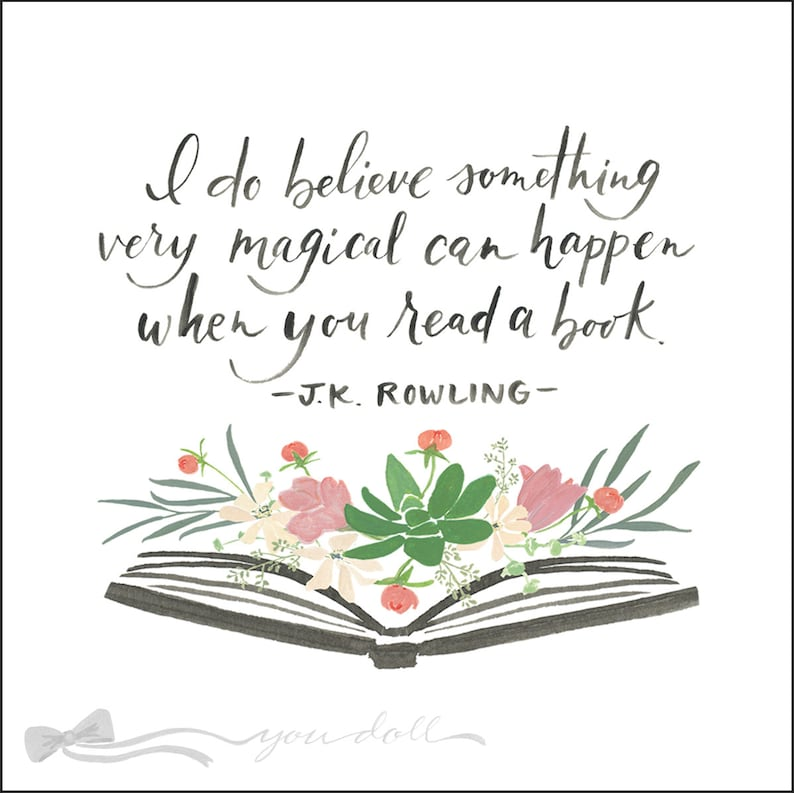 Flower Book  Print with J.K. Rowling quote image 0