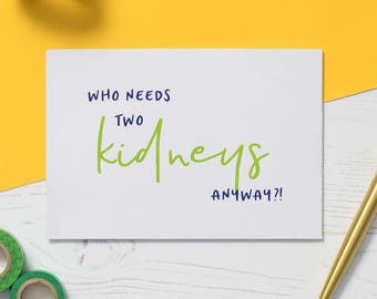 Kidney card etsy get well soon card nephrectomy card kidney removal serious illness kidney cancer card kidney donation card empathy card kidney donor m4hsunfo
