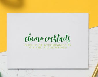 Chemo Card - Chemo Humour, Funny Illness Card, Card for Illness, Cancer is Shit, Empathy Gift, Friendship Card, Chemotherapy Humour, Spoonie