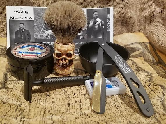 pirate skull shave set gift mens gift pirate gift skull gift etsy