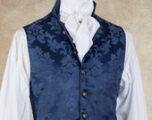 18th Century Style Waistcoat - Damask Brocade - Various Colors