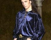 Velvet Pirate / Poet Shirt - Black, Purple, Wine, Green & Blue