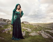 Hooded Medieval Style Dress