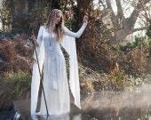 Ravenswing Dress - Elven Style Velvet & Chiffon Gown