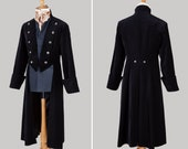 Man's Velvet 'Admiral / Pirate' Style Drop Back Coat