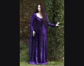 Purple Ravenswing Dress - Elven Style Velvet & Chiffon Gown