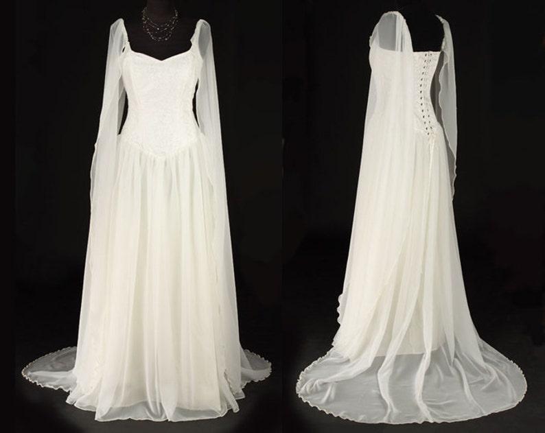 2ea2394b6b77 Avalon Dress Elven Style Bridal/Handfasting Gown   Etsy
