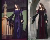 Christina Dress - Velvet Medieval Style Gown - XS Wine Only