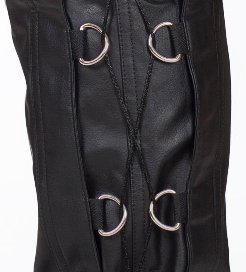 SALE! Mens Vegan Leather  PVC Side Details Jeans