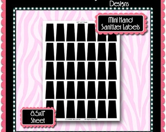 NEW Mini Hand Sanitizer Label Template Instant Download PSD   Etsy