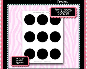 25 circles avery labels 22808 template instant download psd and png formats temp414 85x11 digital bottle cap collage sheet template