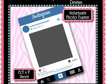 Instagram Frame Template Etsy - Instagram frame template