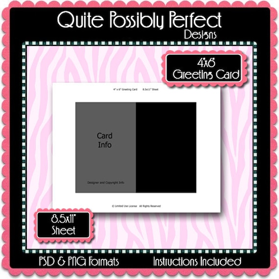 4x6 greeting card template instant download psd and png etsy m4hsunfo