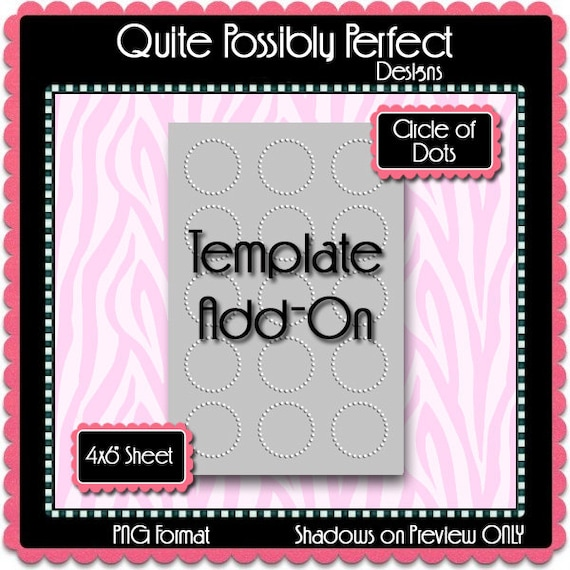 Bottle Cap Template Add On Circle Of Dots Instant Download