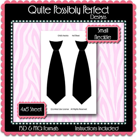 small necktie template instant download psd and png formats etsy