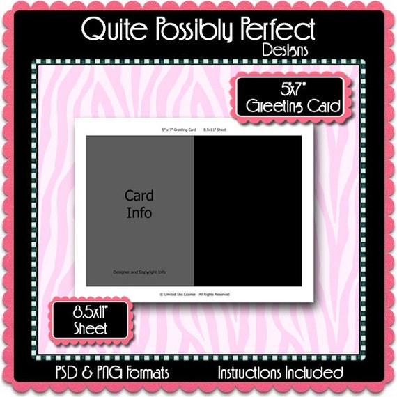5x7 greeting card template instant download psd and png etsy image 0 m4hsunfo