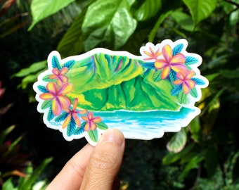 Na Pali Coast Sticker - Small, Tropical Sticker, Hawaii inspired stickers, Kauai gift ideas, Scenic Sticker, Na Pali, ocean sticker