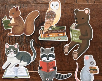 reading creatures sticker set