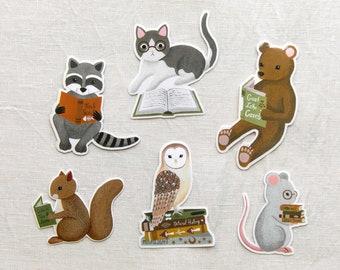 reading creatures vinyl sticker set