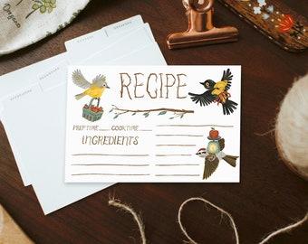 ingredient delivery birds | recipe cards