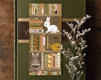 bookshelf rabbit bookmark