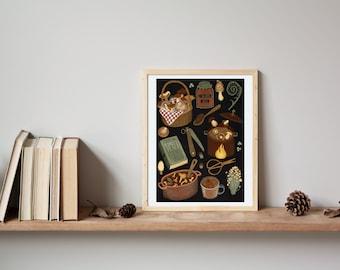 "forest to kitchen | Giclée Art Print, 5x7"", 8x10"", 11x14"""
