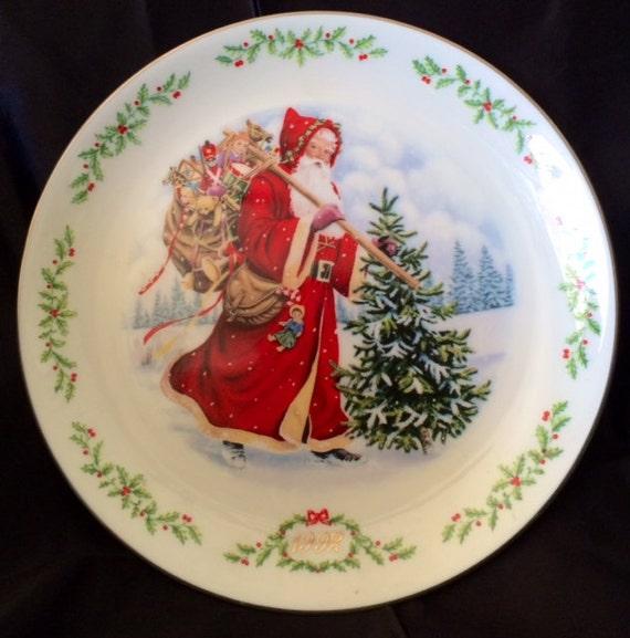 Lenox Christmas.Lenox Christmas Collection Plate 1992 France