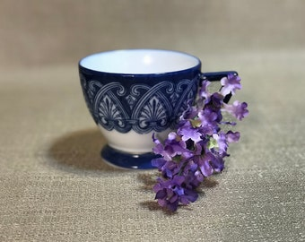 Blue and White Bombay Cup