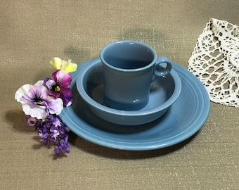 Fiestaware Light Blue  Periwinkle Dinner Plate Bowl and Mug USA