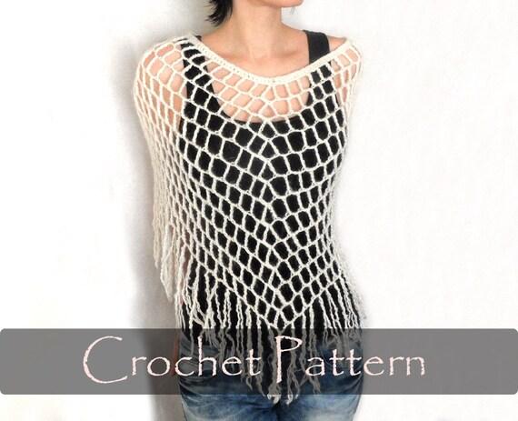 Crochet Pattern Crochet Spiderweb Poncho Crochet Poncho Etsy