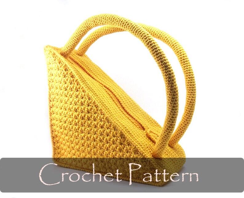CROCHET PATTERN  Crochet Bag Pattern Round Handles Crochet image 0