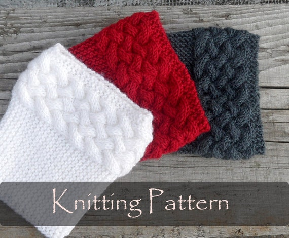Knitting Pattern Double Cable Boot Cuffs Boot Toppers