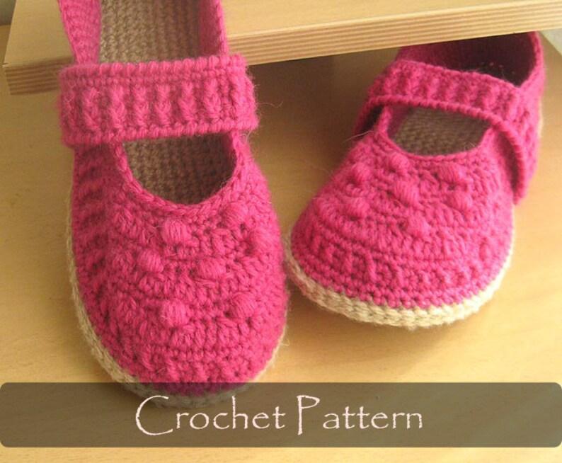 Crochet Pattern Mary Jane Slippers Crochet Pattern House Etsy