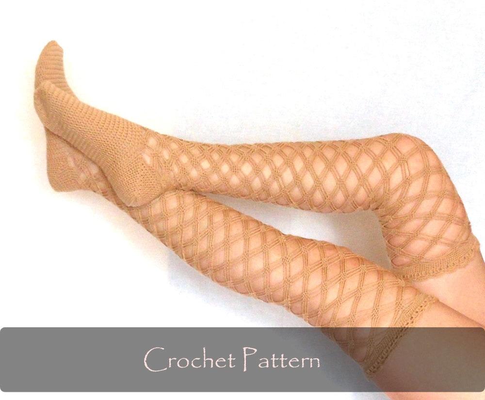 Crochet Pattern Diamond Stockings Crochet Pattern Crochet Etsy
