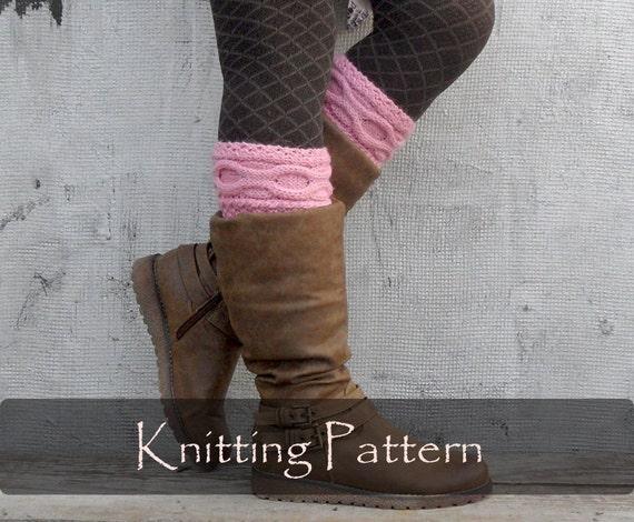 Knitting Pattern Knit Cable Boot Cuffs Pattern Leg Warmers