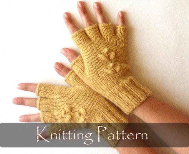 Knitting Pattern Knit Fingerless Mittens Half Fingerless Etsy