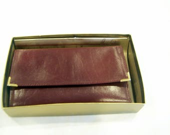 Princess Gardner brown wallet, Mint in box, c. 1980s