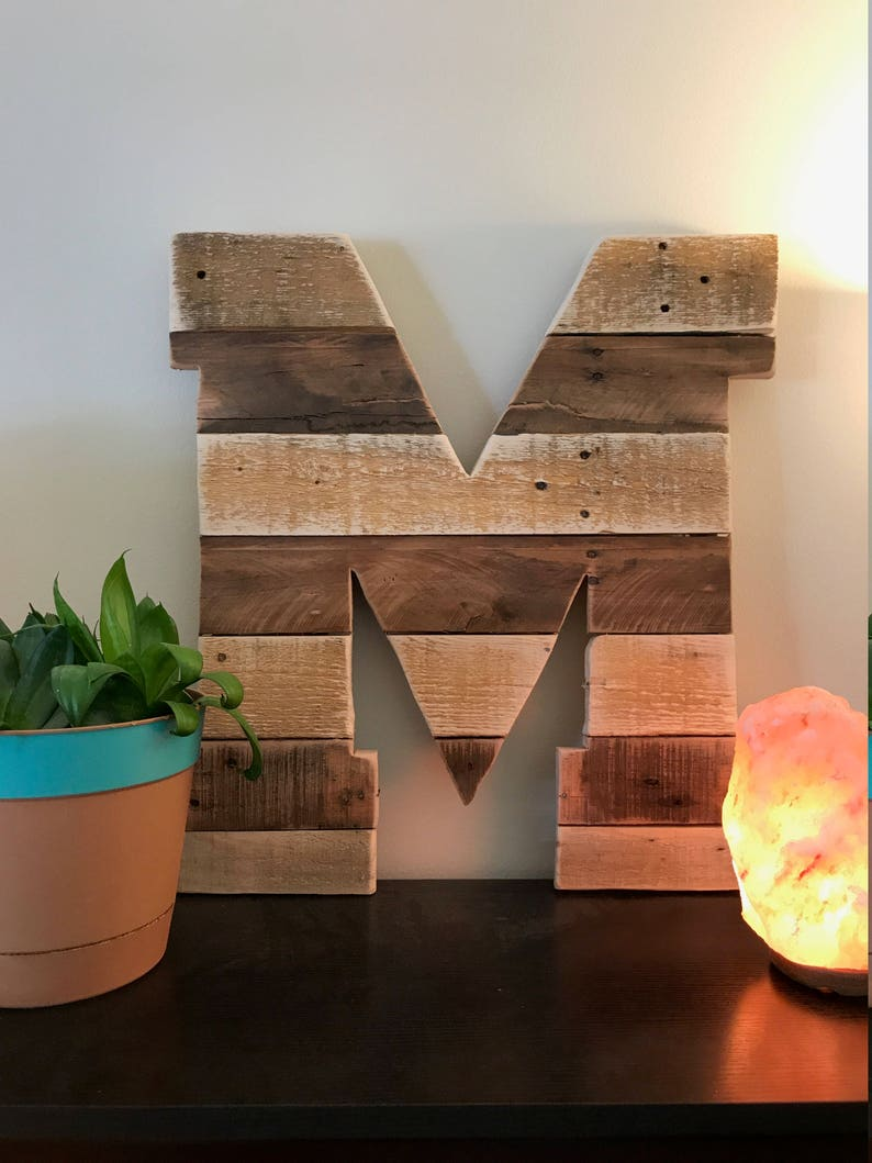 Rustic Wood Sign Pallet Sign Initial Sign Nursery Wall Decor Wood Initial Monogram Rustic Nursery Decor Rustic Wedding