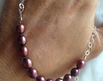 Chcocolate pearl necklace