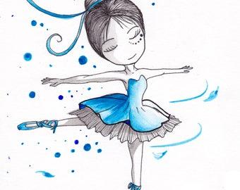 Print Ana Dess in classic dancing