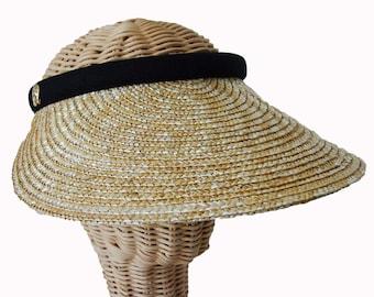 Clip on Visor - Raffia Straw Sun Visor - Equestrian Hat - Horse Sun Hat - Horse Sun Visor - Equestrian Visor - Horse Lover Hat - Summer Hat