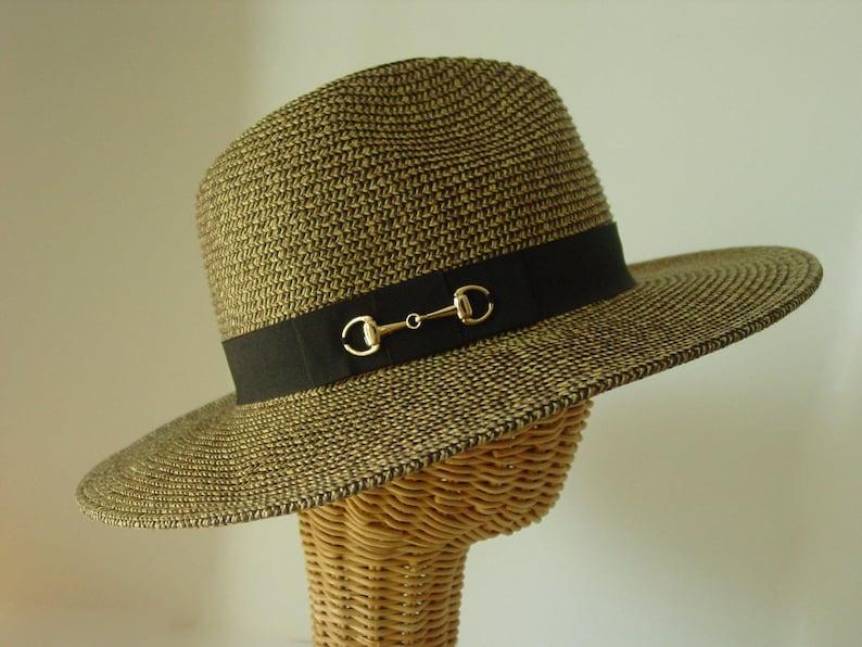 378f417517bd1 Snaffle bit gold Paper Braid Safari Hat