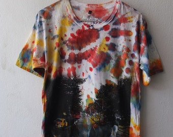 John Lennon abbey road fab four band fashion printed Rock T-Shirt L