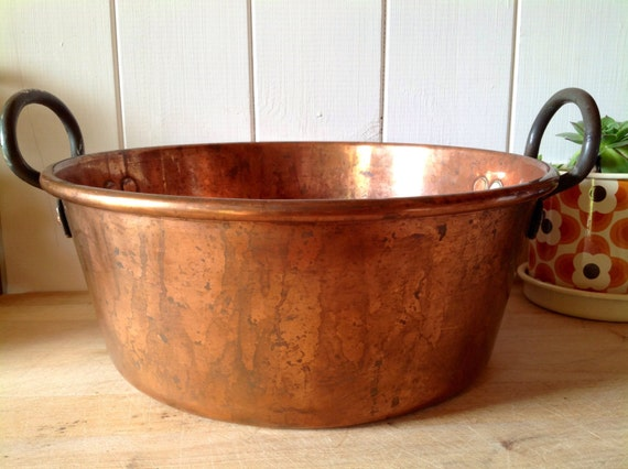 Vintage Copper Pan Bassine A Confiture Copper Jam Making