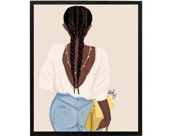 Brown Back 1 Art Print