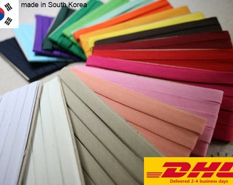 25mm 1 Inch Bias Binding Trim White 10m Roll Good Quality Open Fold Tape