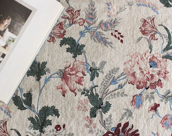 0addc31cde Linen Fabric Flower Fabric by the yards 55