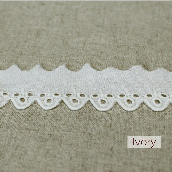 10 Broderie + free 4yds Broderie 10 Anglaise Eyelet lace trim 1.2