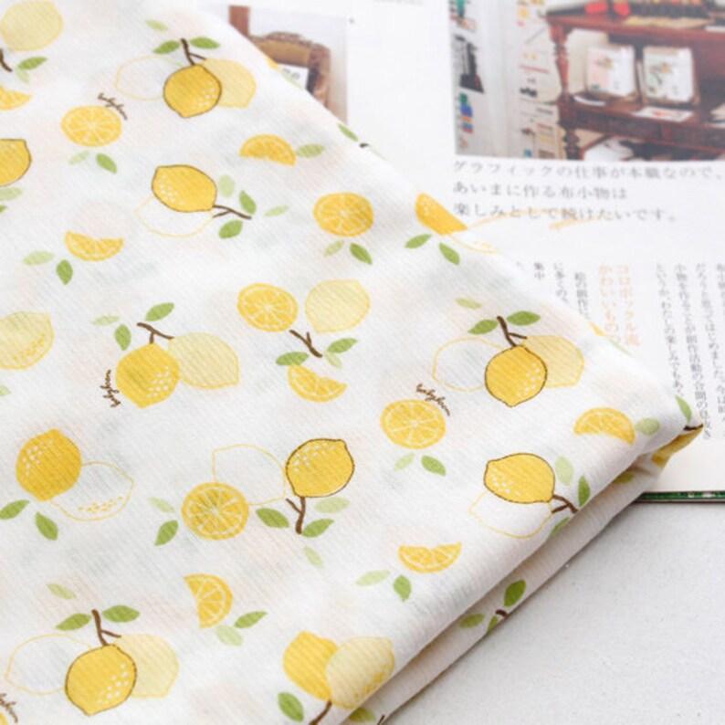 Lemon Cotton Knit Single Fabric by the Yard 73 Wide MR Lemon