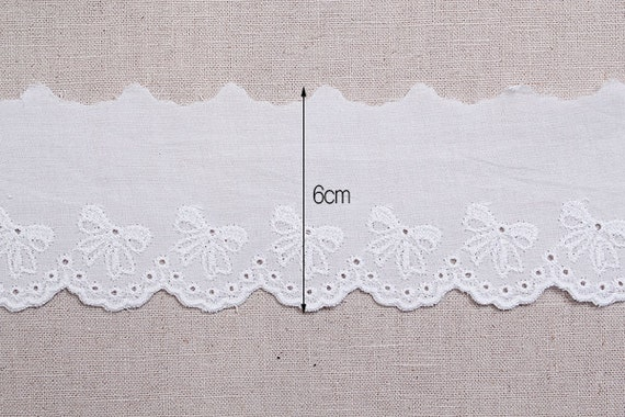 10+free4Yds Broderie Anglaise YH1450 cotton eyelet lace trim 2.4